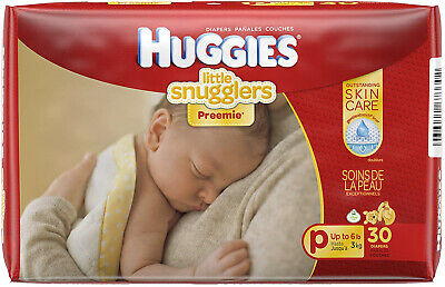 Huggies Premmie Nappies, Unisex, (up to 3kg), 30 Nappies - Free Postage