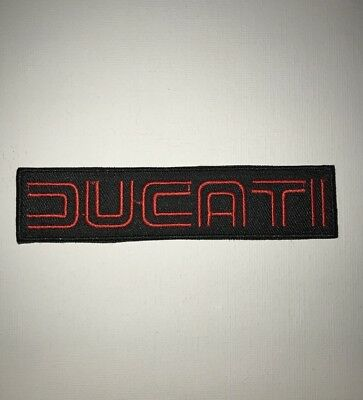 Ducati iron on/ Sew on Patch Biker Motorcycle