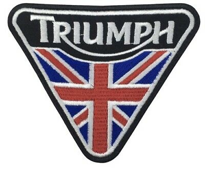 Triumph iron on/ Sew on Patch Biker Motorcycle 10 x 8cm