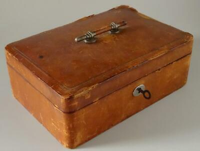 Antique Leather Jewelry Box Gold Tooled Isabella