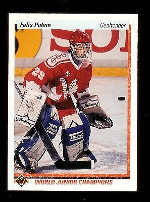 1990-91 Upper Deck #458 Felix Potvin rookie Toronto Maple Leafs