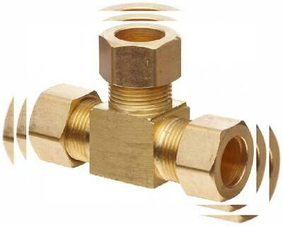 "Anderson Metals Brass Tube Fitting, Tee, 3/16"" x x Compression"