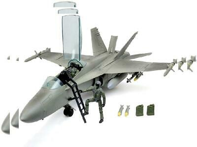 Click N' Play Military Air Force F/A 18 Super Hornet Fighter Jet, 16 Piece...