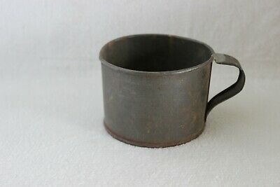 Primitive Vintage Antique Tin Coffee Water Cup Chuck wagon Railroad Campfire Mug