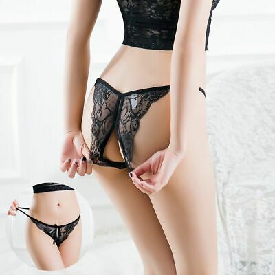Breathable Sexy Panties Underwear Briefs Thongs G-string Open Intimates