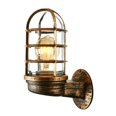 Industrial Vintage Rustic Cage Wall Sconce Farmhouse Wall Mount Fixture Lamp