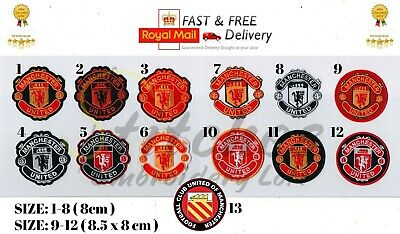 Manchester United Football Club Soccer Patch Badge Embroidered Iron On Sew On