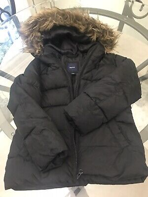 d5a774e53 GAP Kids Black Hooded Winter Coat Puffer Jacket Size S (6-7) Excellent