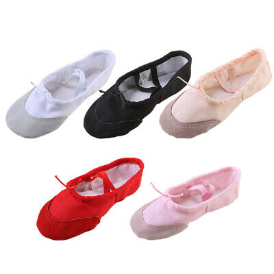 b7b3e9f5de1e5 CIOR BALLET SLIPPERS for Girls Classic Split-Sole Canvas Dance ...