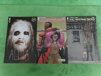 2018 The Walking Dead Issues 180 Alpha Variant & 181 & 182