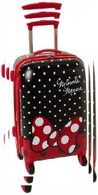 American Tourister Disney Hardside Luggage with Spinner Minnie Mouse Red Bow