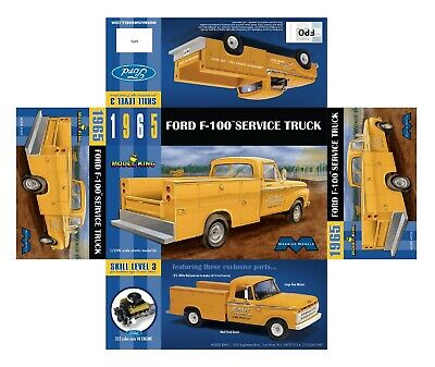 Moebius 1965 Ford F-100 Service Utility Bed 1/25 Truck MODEL CAR MOUNTAIN 6/18