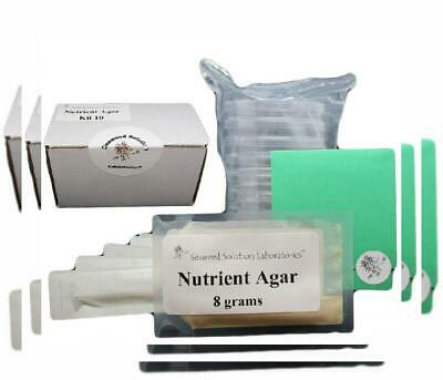 Nutrient Agar Kit, Includes Dehydrated, 10 Sterile Petri...