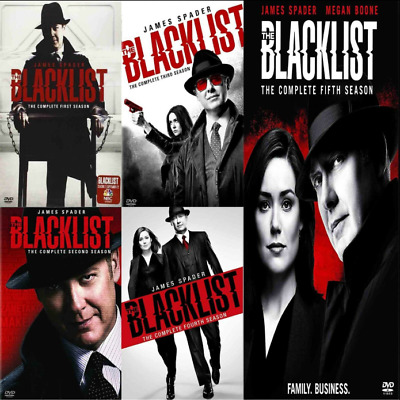 The Blacklist The Complete TV Series Seasons 1-5 DVD 1 2 3 4 5 Brand New Sealed!