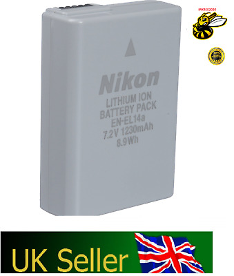 Genuine Original Nikon EN-EL14a EN-EL14 Battery for MH-24 D3300 D5200 D5100 55