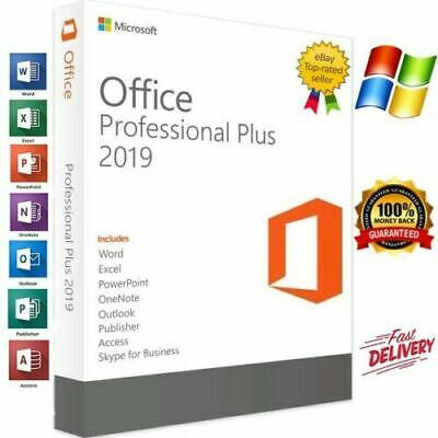 2019 Pro Plus 32/64 Bit Lifetime License Genuine Key For 1PC