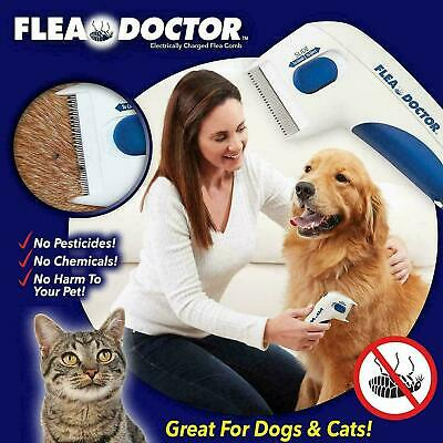 Flea Doctor Electronic Flea Comb Dogs Cats Kills Stuns Fleas Head Lice Remove