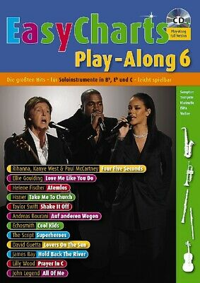 Easy Charts Play-Along. Band 6. Spielbuch mit CD,