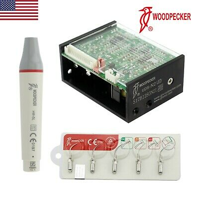 Woodpecker Original UDS-N2 LED Dental Ultrasonic Scaler HW-5L Handpiece Tips EMS