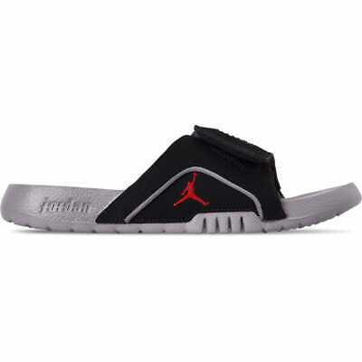 e1470555de376 BOYS' BIG KIDS' Jordan Hydro 4 Retro Slide Sandals Black/Fire Red/Cement  Grey 53