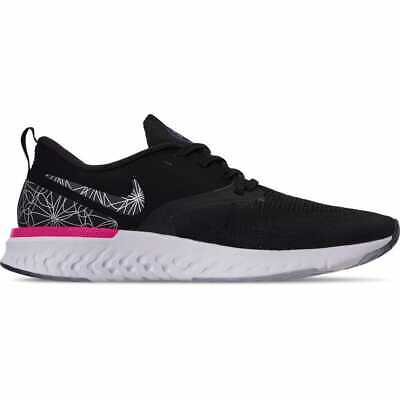 Men's Nike Odyssey React Flyknit 2 Graphic Running Shoes Black/Black/Reflect Sil