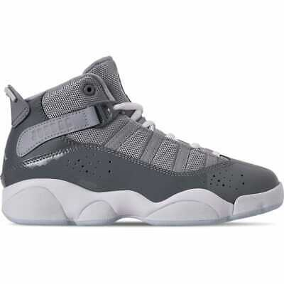 Boys' Little Kids' Air Jordan 6 Rings Basketball Shoes Cool Grey/White/Wolf Grey