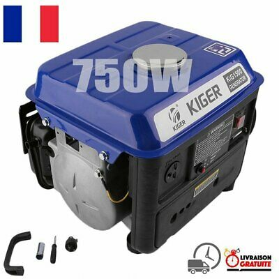 Groupe électrogène Home Use 750w Small Gasoline Generator 4.2 l 230 V - FRANCE