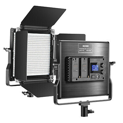 660 LED Video Light Dimmable Bi-Color LED Panel with U Bracket and Barndoor