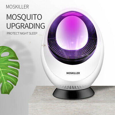 Electric Mosquito Killer Pest Kill Lamp LED Flying Bug Traps Light Outdoor aJ
