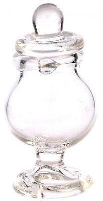 Dolls House Miniature Accessory Empty Apothecary Bonbon Footed Clear Glass Jar
