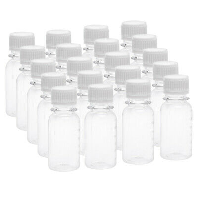 2 oz/60ml Plastic Lab Reagent Bottle Small Mouth Container Clear Bottles 20pcs