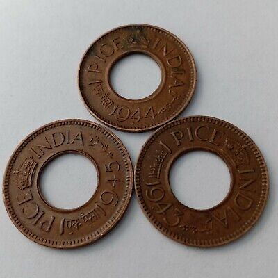 1945 50 COINs LOT BRITISH INDIA 1947 GEORGE VI ONE PICE 1944 1943
