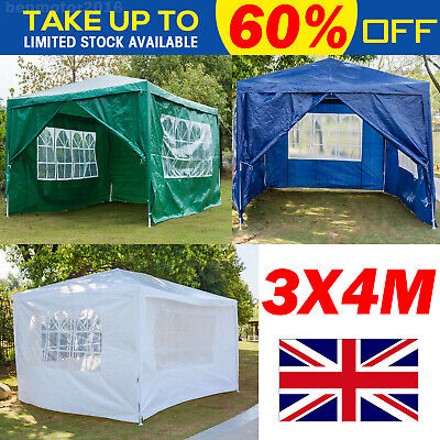 3X4M Gazebo Marquee Party Tent with Sides Waterproof Garden Patio Outdoor Canopy