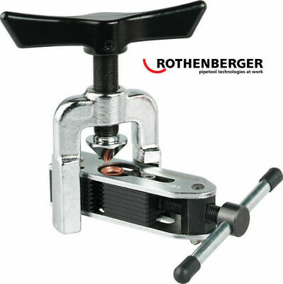 Rothenberger ALL SIZE R410a Ductless Heat Pump 45* Copper Pipe Flaring Tool