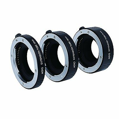 Movo AF Macro Extension Tube Ring Set for Sony E-MOUNT (NEX) Mirrorless Camera