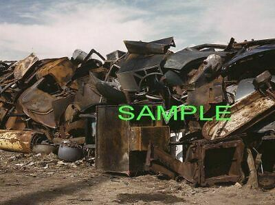 1942  SCRAP SALVAGE YARD Photo BUTTE Montana