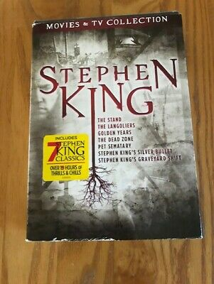 Stephen King Movies and TV Collection (DVD,7 Movies-9 Discs) Slipcover