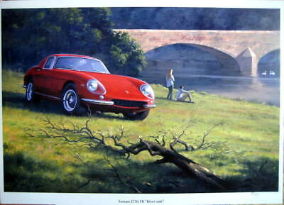 Ferrari 275GTB  On the banks - (Lim. 35 pcs)- Artist : Keith Woodcock