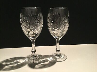 Sears Pinwheel Design Crystal Stemware hand cut and mouth blown in hungry