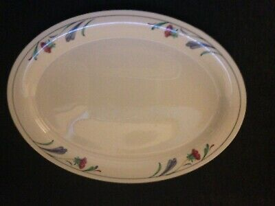 Lenox Poppies On Blue 14 Inch Oval Serving Platter