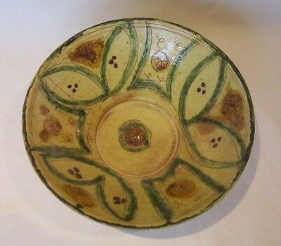 Ancient Persian pottery bowl 14th - 16th century