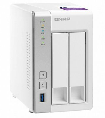 NEW QNAP TS-231P-US 2-Bay Personal Cloud NAS  w/ 16TB (2x8TB) NAS Drives