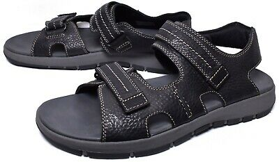 Details about Men's Clarks Sandals Brixby Shore Dark Brown Leather 261 31549