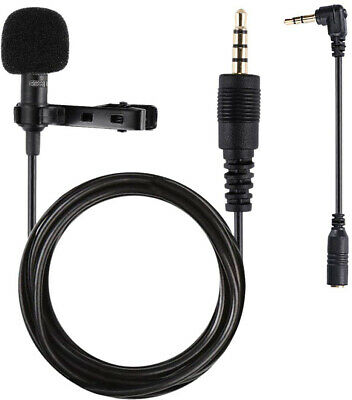 Lavalier Microphone 3.5mm Lapel Clip-on Omnidirectional Condenser Microphone