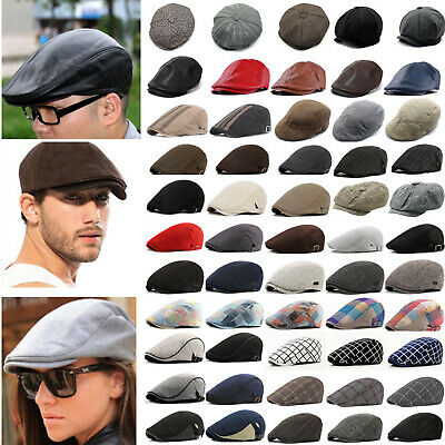 Mens Newsboy Ivy Golf Driving Flat Cap Berets Bonnet Cabbie Gatsby Hat Casual