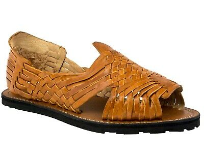 Mens Chedron Sandals Mexican Huaraches Genuine Leather Handmade Woven Open Toe