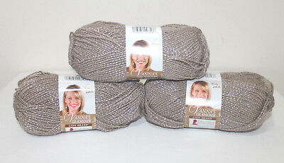 "Set Of 3/"" /""Vanna/'s Glamour Yarn-Topaz"