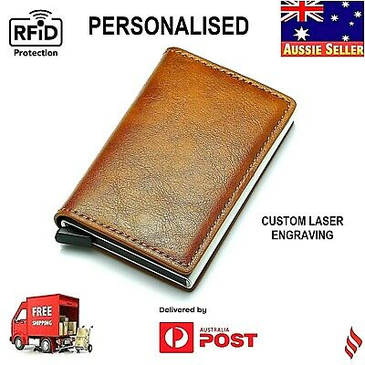 "Pop Up Leather Card Holder RFID Blocking Anti Scanned wallet  ""FREE CUSTOM LOGO"""