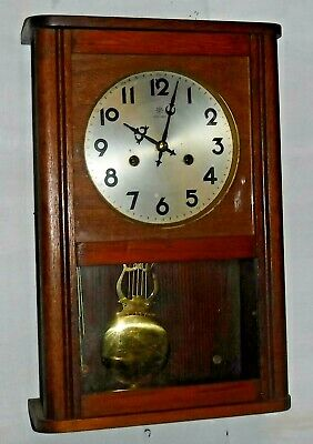 Antique Junghans 8 Day Chime Wall Clock Regulator Working W277