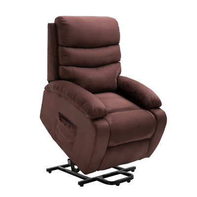Homegear Microfiber Power Lift Electric Recliner Chair w/ Massage, Heat